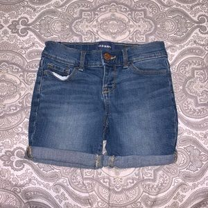 old navy little girls jean shorts